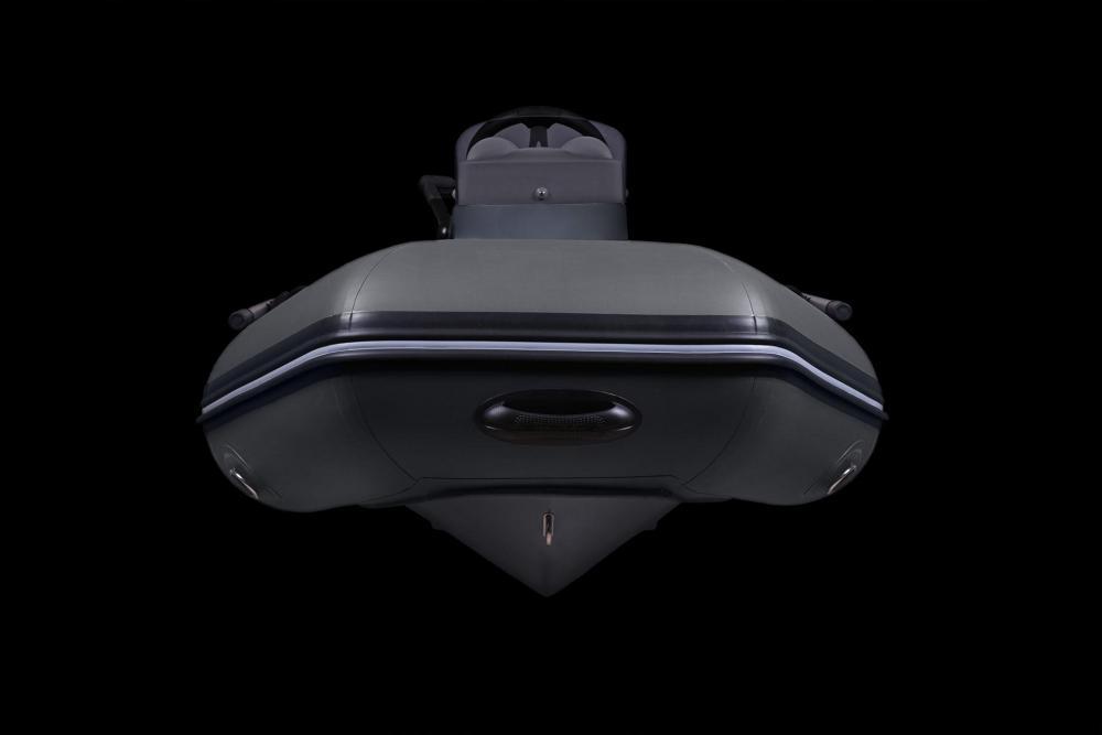 Schwarzes schlauchboot
