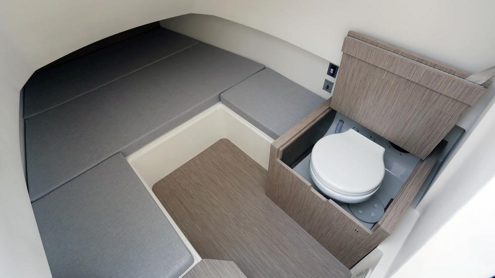 Festrumpfschlauchboot capelli kabine mit wc