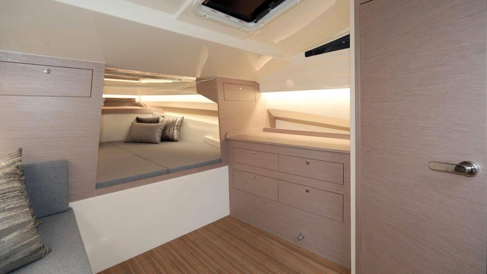 Rib boot kajuete kabine doppelbett