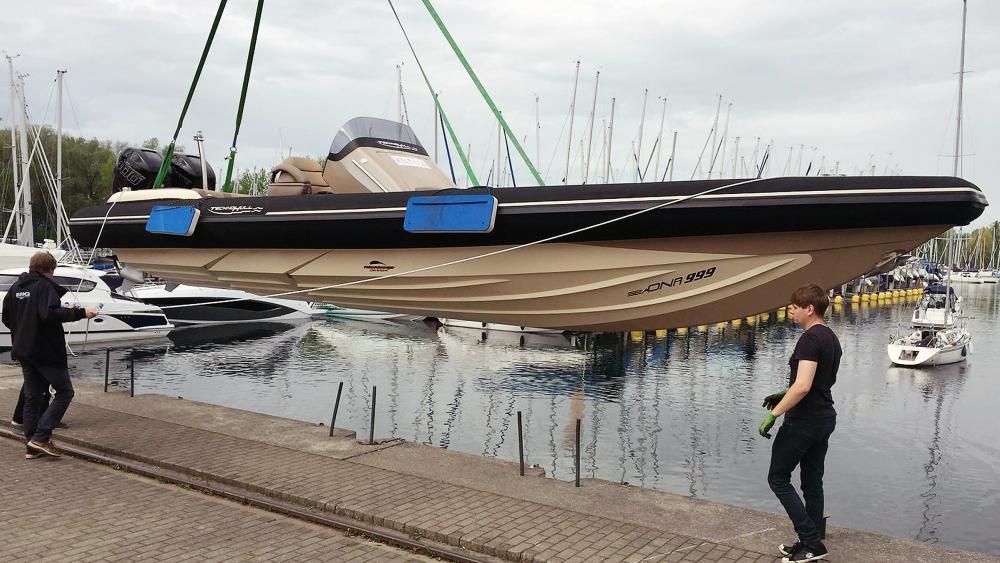 Trailer festrumpfschlauchboot 10m